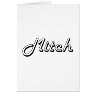 Conception nommée classique de Mitch rétro Cartes