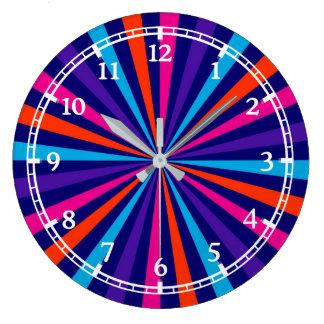 Conception optique moderne de cadran de roue de grande horloge ronde