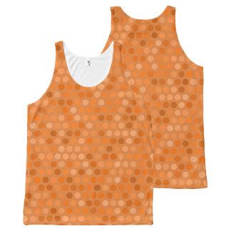 Conception orange géométrique de point de polka bannières