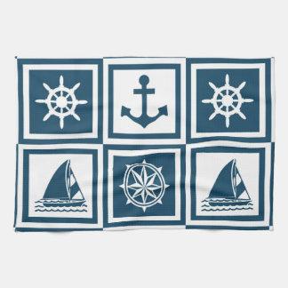 Conception orientée nautique serviettes pour les mains