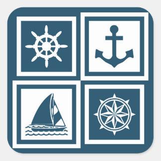 Conception orientée nautique sticker carré