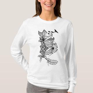 Conception originale d'ADN de nature, long T-shirt
