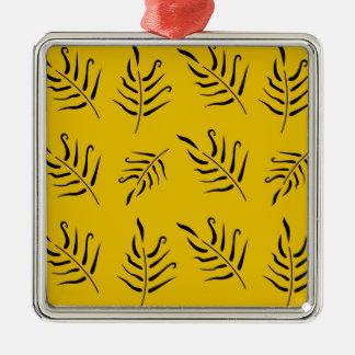 Conception originale de palmettes vintages de luxe ornement carré argenté