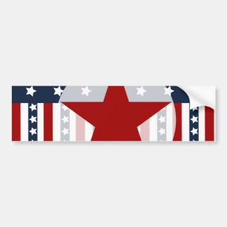 Conception patriotique de drapeau américain de autocollant de voiture