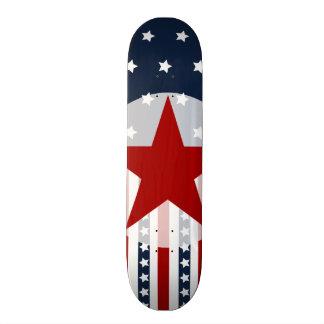 Conception patriotique de drapeau américain de skateboard customisable