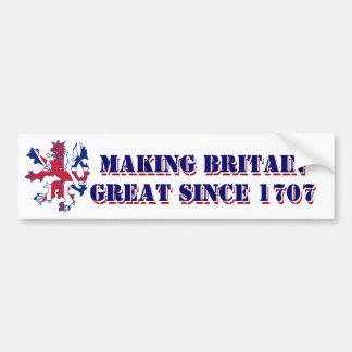 Conception patriotique de la Grande-Bretagne Autocollant De Voiture