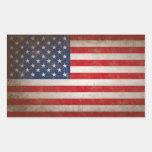 Conception patriotique vintage de drapeau américai adhésif