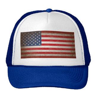 Conception patriotique vintage de drapeau casquettes de camionneur