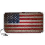 Conception patriotique vintage de drapeau haut-parleur mobile
