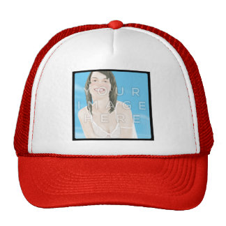 Conception personnalisée de chapeau de photo casquettes