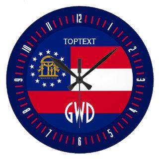Conception personnalisée de drapeau d'état de la grande horloge ronde