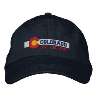 Conception personnalisée de drapeau d'état du casquette brodée