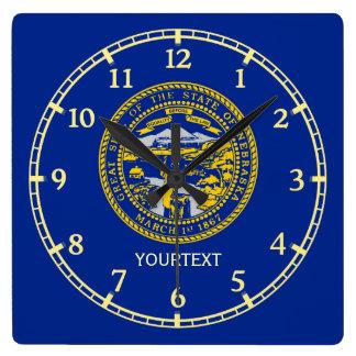 Conception personnalisée de drapeau d'état du horloge carrée