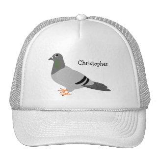 Conception personnalisée de pigeon casquettes