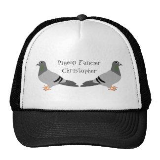 Conception personnalisée de pigeon casquettes de camionneur