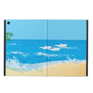 Conception pittoresque de dauphin de plage