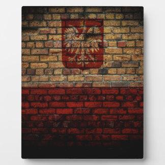 Conception polonaise de mur de briques de drapeau impressions sur plaque