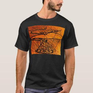 Conception pour un hélicoptère t-shirt
