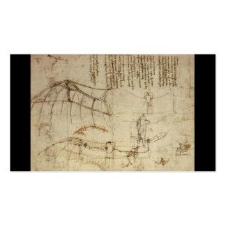 Conception pour une machine de vol par Leonardo da Carte De Visite Standard