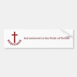 Conception rachetée par chrétien de Croix-Rouge et Autocollant De Voiture