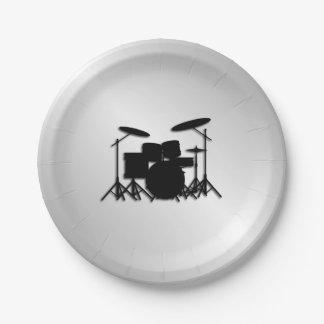 Conception réglée de musique de tambour assiettes en papier