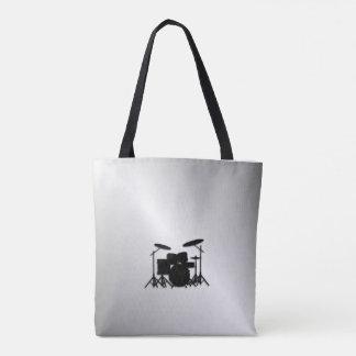 Conception réglée de musique de tambour tote bag