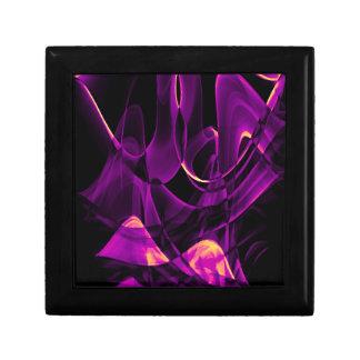 Conception réutilisée d'art de fumée petite boîte à bijoux carrée