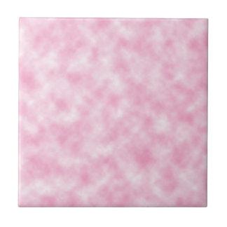 Conception rose créée de nuages carreau