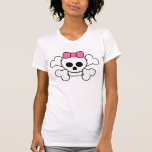 conception rose de crâne d'arc t-shirt