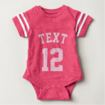 Conception rose du Jersey de sports du bébé | T-shirts