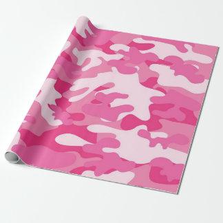 Conception rose et blanche de Camo Papiers Cadeaux