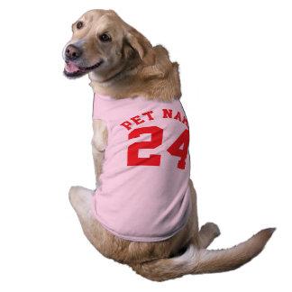 Conception rose et de rouge des animaux familiers t-shirt pour chien