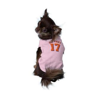 Conception rose et d'orange des animaux familiers t-shirt pour chien