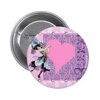 Conception rose féerique de fleur vintage de danse badges avec agrafe
