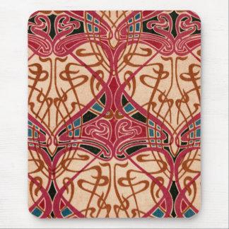 Conception rouge vintage tapis de souris