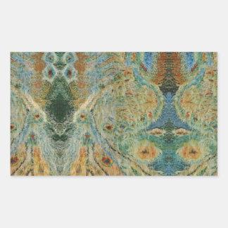 Conception roumaine vintage de tissu autocollants rectangulaires
