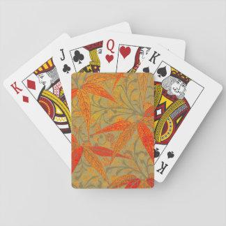 Conception rustique de Boho d'impression en bambou Jeux De Cartes