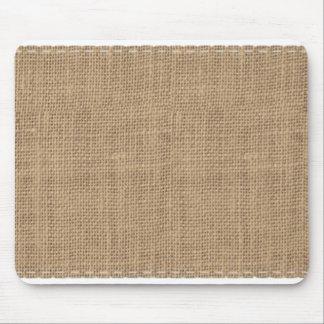 Conception rustique de toile de jute tapis de souris