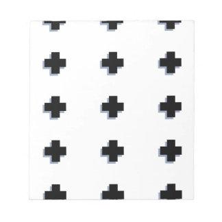 Conception scandinave moderne de croix suisses bloc-note