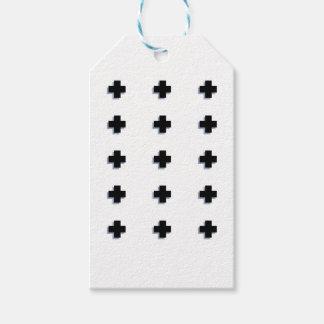 Conception scandinave moderne de croix suisses étiquettes-cadeau