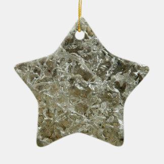 Conception texturisée par nature glaciaire ornement étoile en céramique