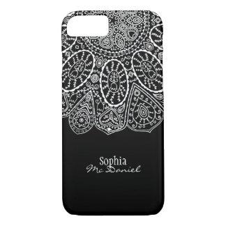Conception tirée par la main de cercle de henné coque iPhone 7