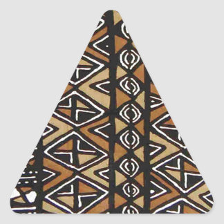 Conception tribale africaine sticker triangulaire