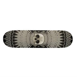 Conception tribale de fractale de crâne gothique : plateaux de skate