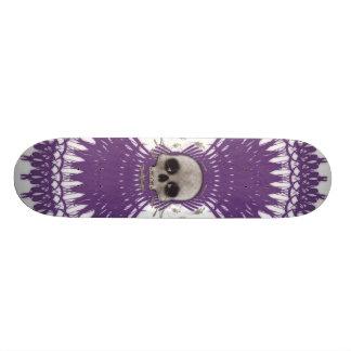 Conception tribale de fractale de crâne gothique : plateaux de skateboards customisés