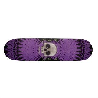 Conception tribale de fractale de crâne gothique : skateboard 20,6 cm