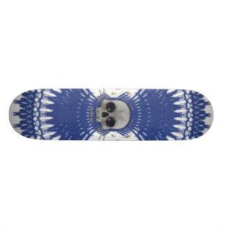 Conception tribale de fractale de crâne gothique : skateboard customisable