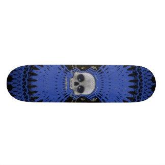 Conception tribale de fractale de crâne gothique : skateboard old school  21,6 cm