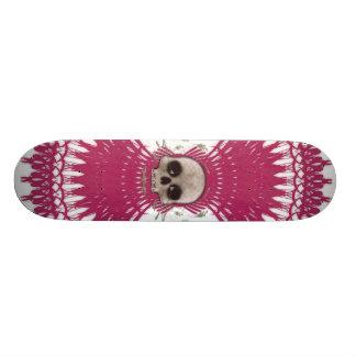 Conception tribale de fractale de crâne gothique : skateboards customisés