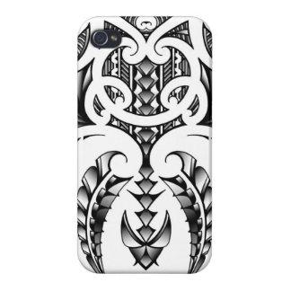 Conception tribale de tatouage dans le style maori étuis iPhone 4